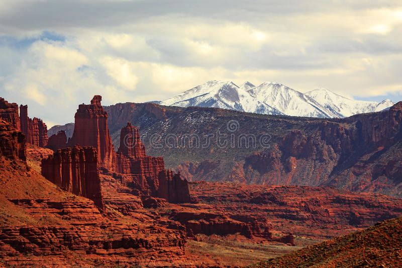 Fisher towers stock image. Image of park, southwest