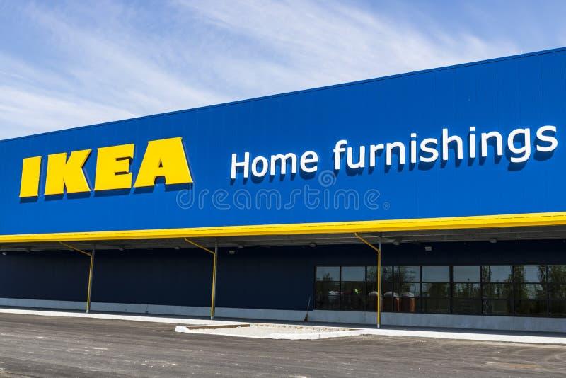 Fisher - vers en mai 2017 : Magasin de mobilier de maison d'IKEA Fondé en Suède, IKEA est détaillant de meubles du ` s du monde l photographie stock libre de droits