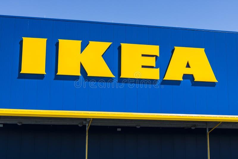 Fisher - vers en mai 2017 : Magasin de mobilier de maison d'IKEA Fondé en Suède, IKEA est détaillant de meubles du ` s du monde l images libres de droits