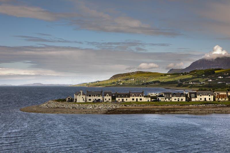 Fisher wioski Ullapool jon Szkocki zachodnie wybrzeże fotografia stock
