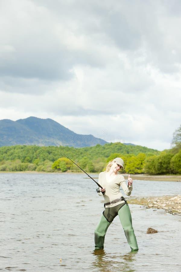fisherkvinna fotografering för bildbyråer