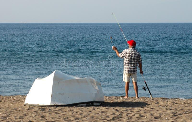 Download Fisherman stock image. Image of wedkarz, greek, fish, alanya - 271765