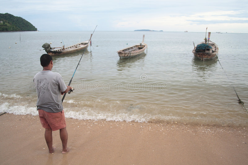 Fisherman royalty free stock photos