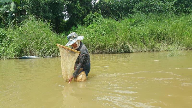 Fisherman asian royalty free stock photography