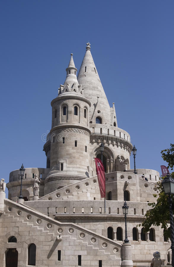 Fisherman Bastion on the Buda Castle hill. In Budapest, Hungary royalty free stock images