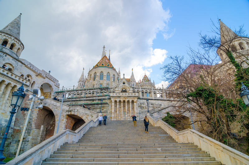 Fisherman Bastion On The Buda Castle Hill In Budapest ...