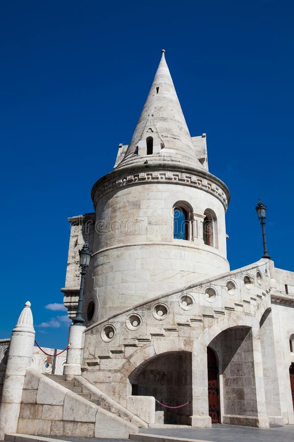Fisherman Bastion a terrace located on the Buda bank of the Danube at the Castle hill royalty free stock images