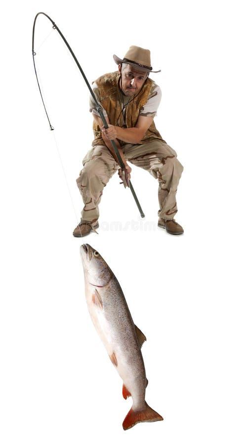Fisherman with big fish stock image