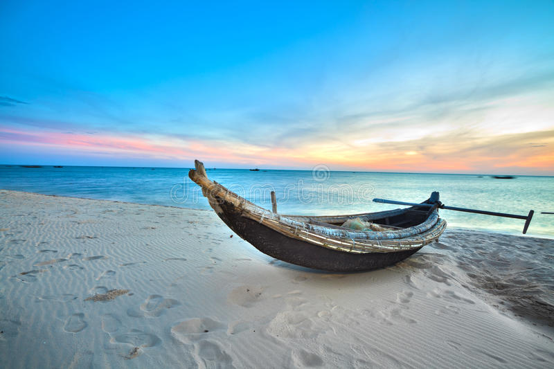 Fisherman Boat Royalty Free Stock Images