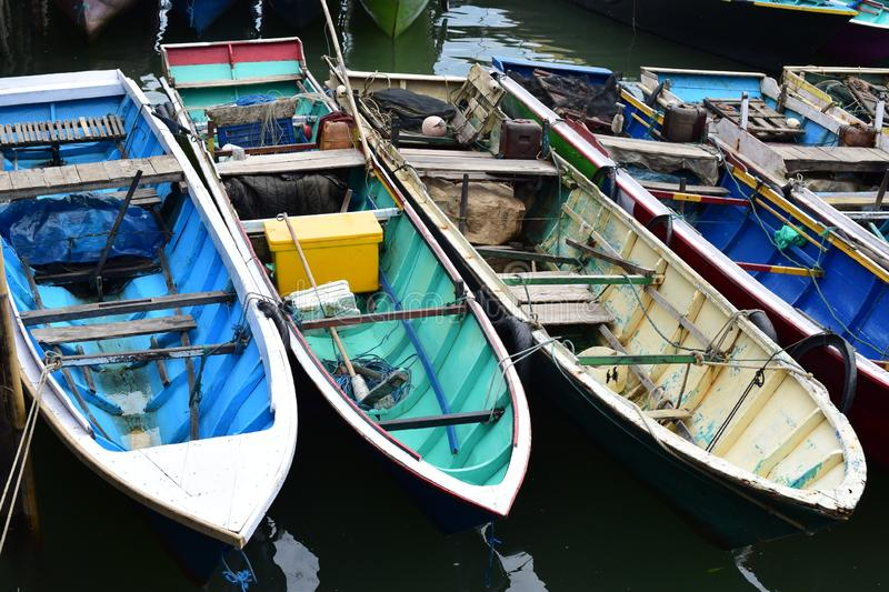 Boats in the pier royalty free stock photography