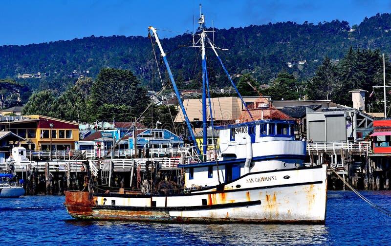 Fisherman& x27; cais de s, Monterey Califórnia fotografia de stock