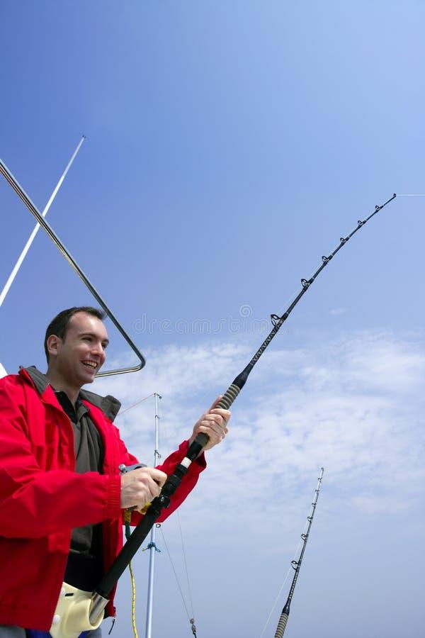 Download Fisherman Fishing On Boat Big Game Tuna Stock Photo - Image: 8951664