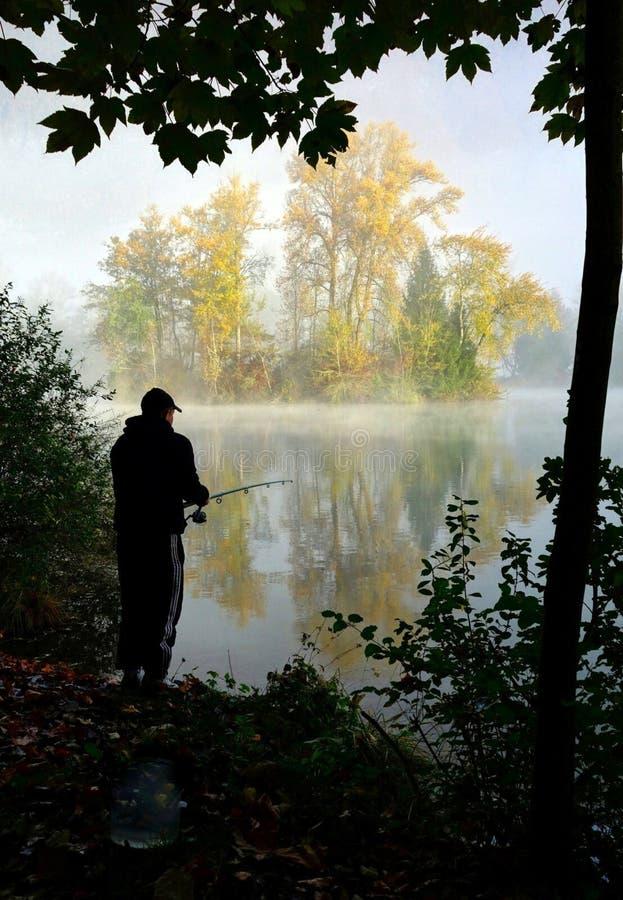 Fisherman Fishing On Lakeside Free Public Domain Cc0 Image