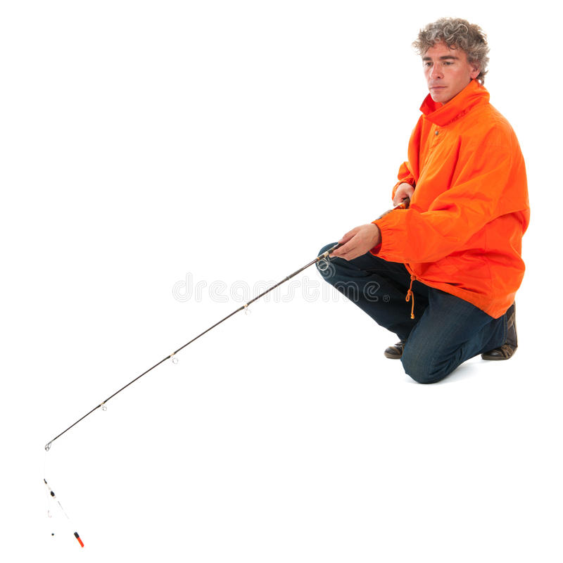 Download Fisherman with fishing rod stock image. Image of standing - 27191951