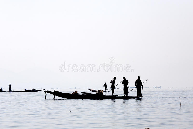 Download Fishermen at Inle Lake editorial photography. Image of inle - 30006357