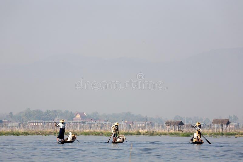 Fishermen At Inle Lake Editorial Stock Image