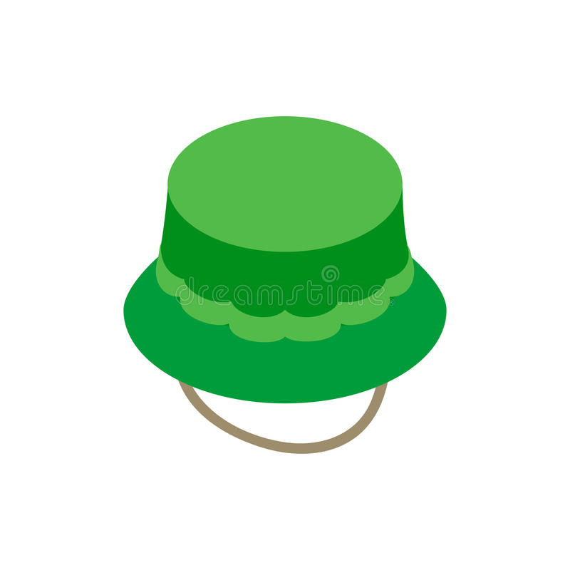 Fisherman hat isometric 3d icon royalty free illustration