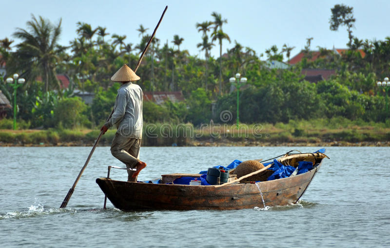 Download Fisherman On The Hoi An River, Vietnam Editorial Photography - Image: 17782432