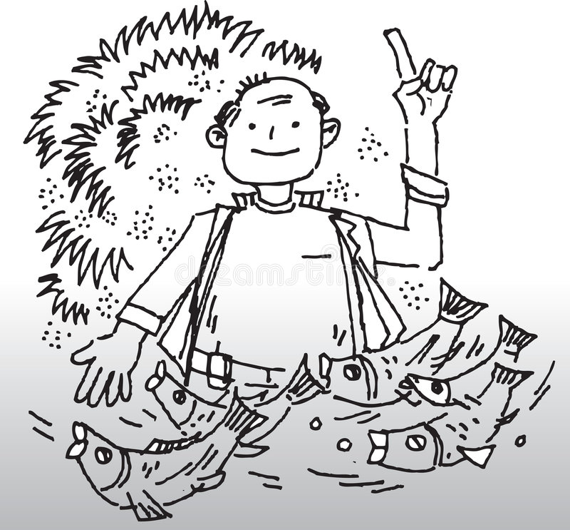 Download Fisherman illustration stock vector. Image of fish, hobby - 5944608
