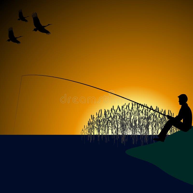 A fisherman on the lake-1