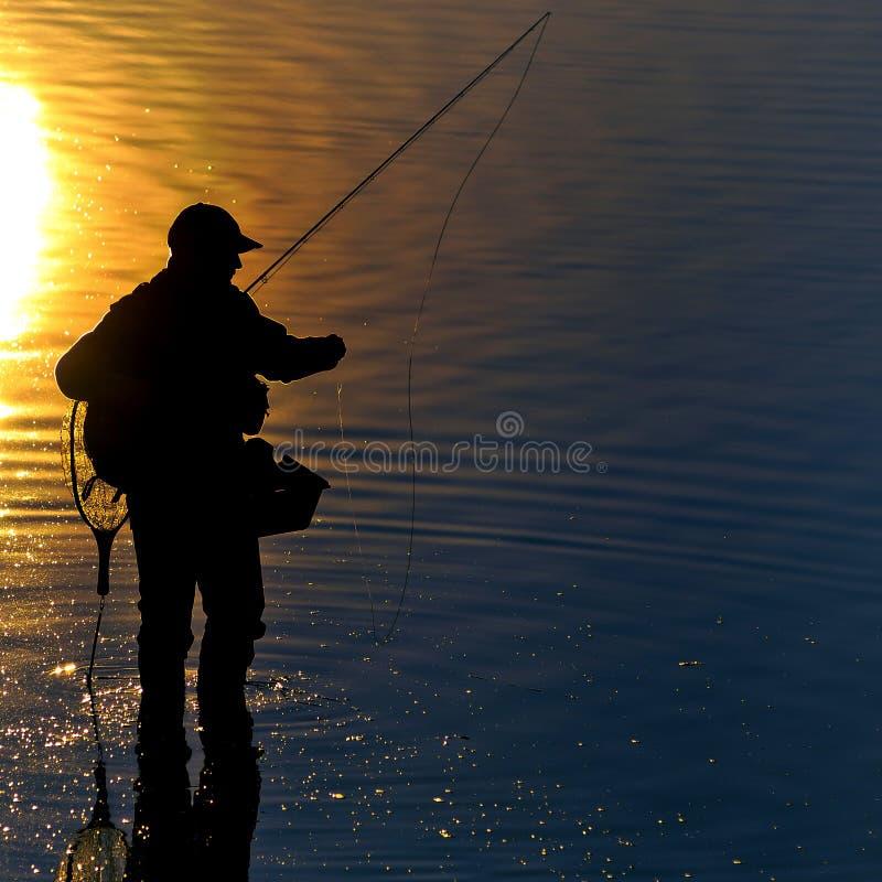 Fisherman morning stock photos