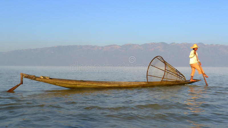 Download Fisherman in Myanmar editorial stock photo. Image of waves - 18400103