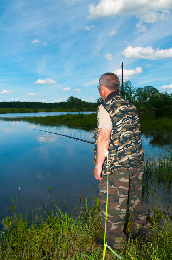 Download Fisherman on river stock photo. Image of hobby, holiday - 16699126
