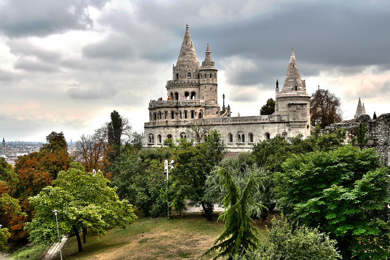 Download Fisherman's Bastion stock image. Image of lights, townspeople - 18035171
