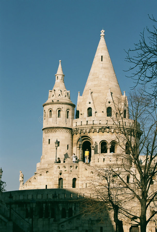 Fisherman's Bastion, Budapest. Fisherman's Bastion - historic building, Budapest, Hungary stock image