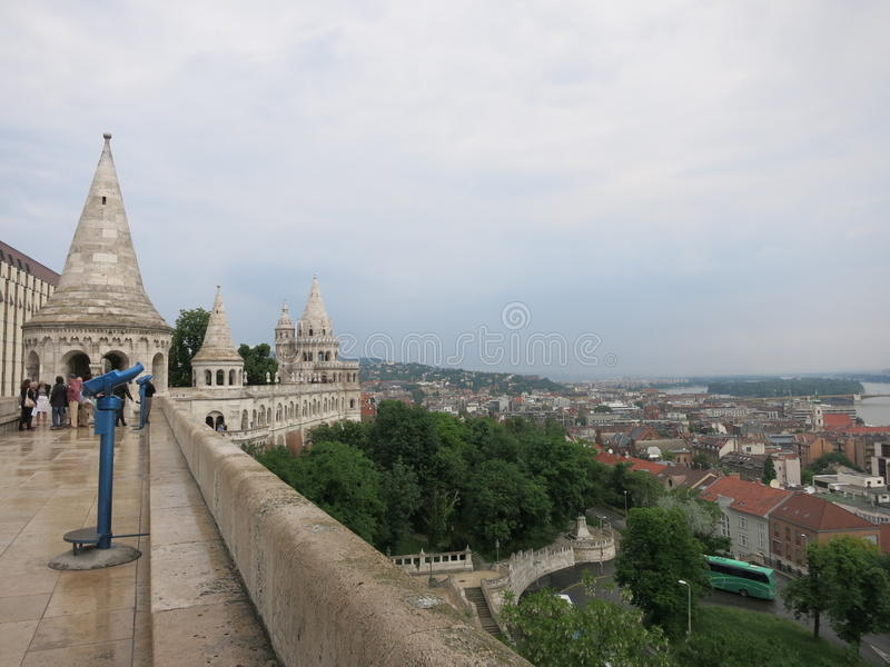 Fisherman's Bastion. Located in Budapest, Hungary royalty free stock photo