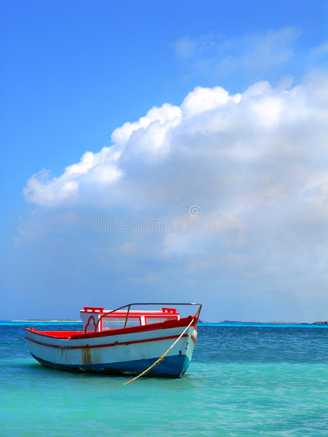 Fisherman S Boat In Aruba Stock Photo