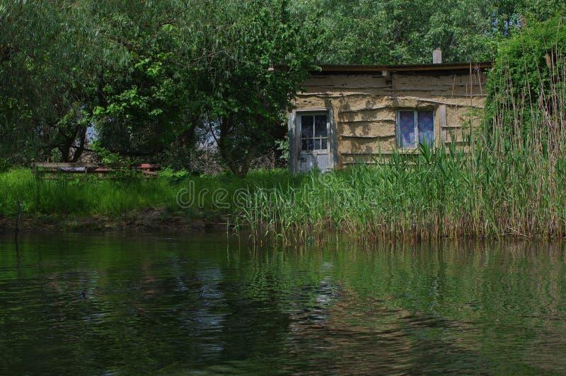 Fisherman`s house in Danube Delta royalty free stock photos