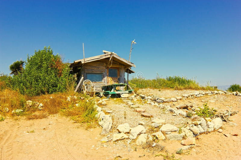 Fisherman's hut royalty free stock photography