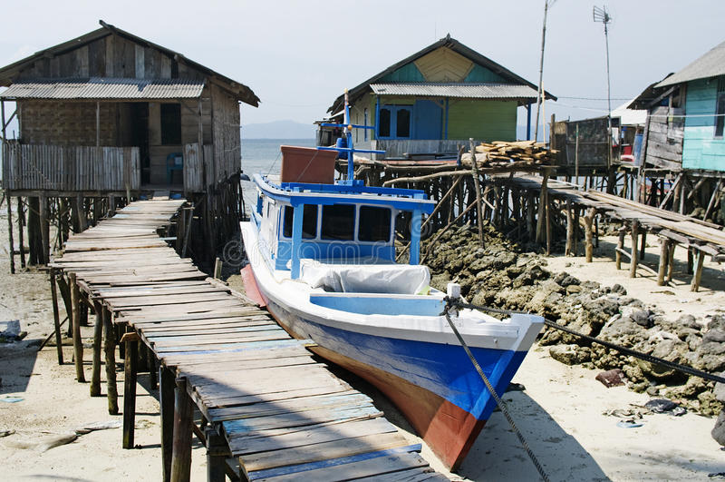 Fisherman's village in Bandar Lampung,Indonesia. Fisherman's village in Bandar Lampung,Sumatra,Indonesia royalty free stock photography