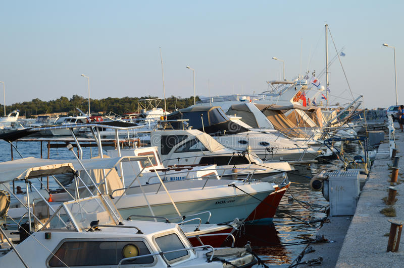 Fisherman`s Wharf in Glyfada, Athens, Greece on June 14, 2017. ATHENS, GREECE - JUNE 14: Fisherman`s Wharf in Glyfada, Athens, Greece on June 14, 2017 stock photography