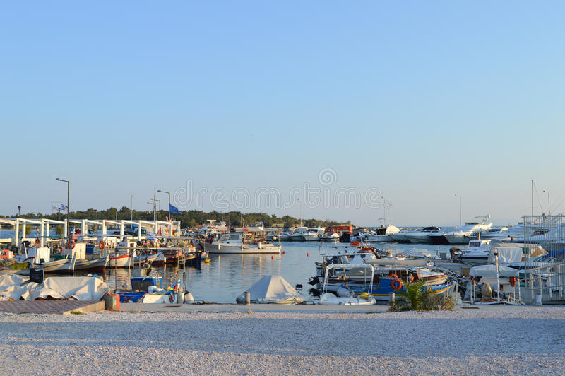 Fisherman`s Wharf in Glyfada, Athens, Greece on June 14, 2017. ATHENS, GREECE - JUNE 14: Fisherman`s Wharf in Glyfada, Athens, Greece on June 14, 2017 royalty free stock images