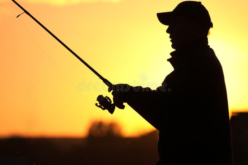 Download Fisherman silhouette stock photo. Image of horizontal - 21226452