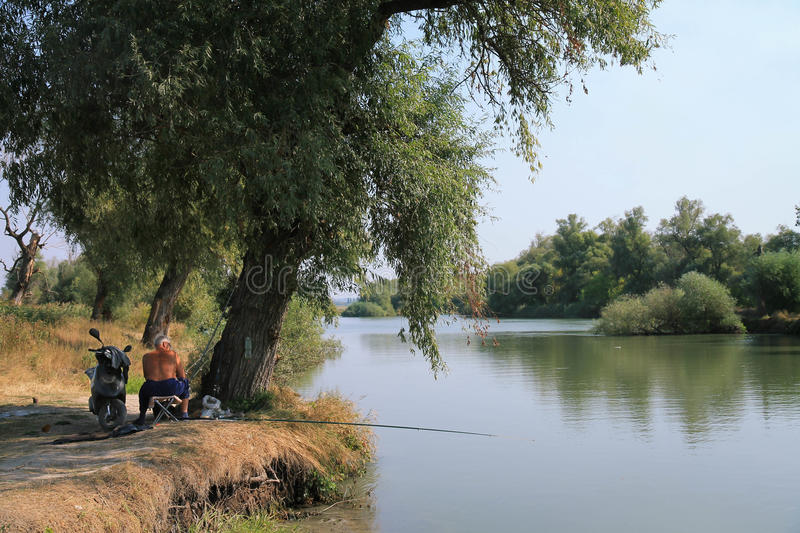 Download Fisherman. Sunny Day Near The River. Editorial Stock Photo - Image: 83712023