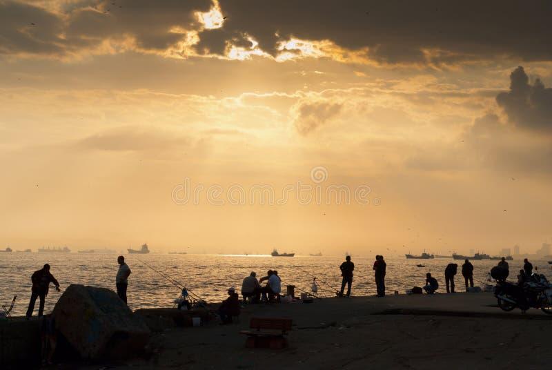 Download Fisherman on sunrise stock photo. Image of spool, angler - 27668668