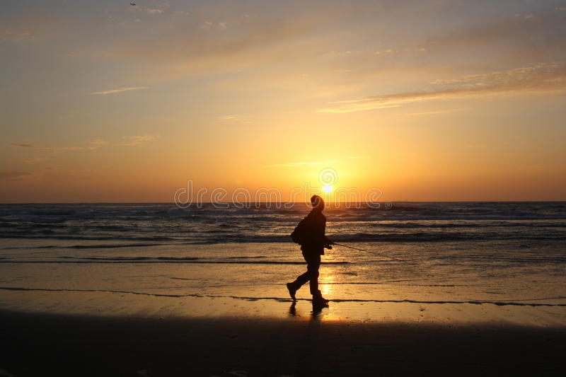 Download Fisherman at sunset stock photo. Image of fisherman, sunset - 20728200