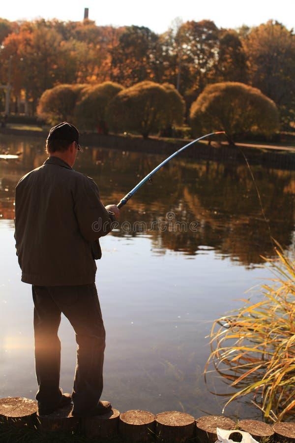 Fisherman in sunshine royalty free stock image