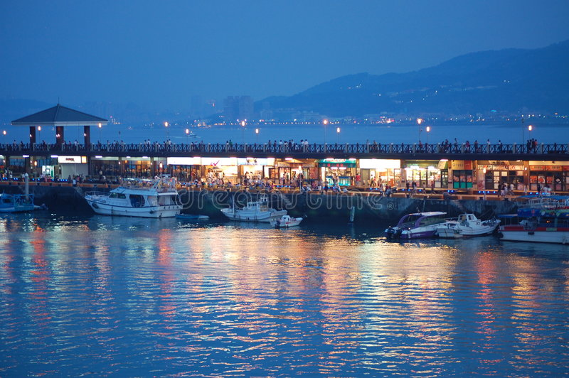 fisherman taiwan wharf στοκ εικόνες