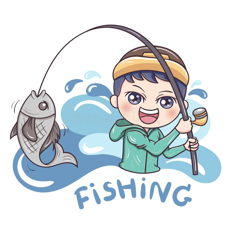 Fisherman_vetor_1 illustration stock