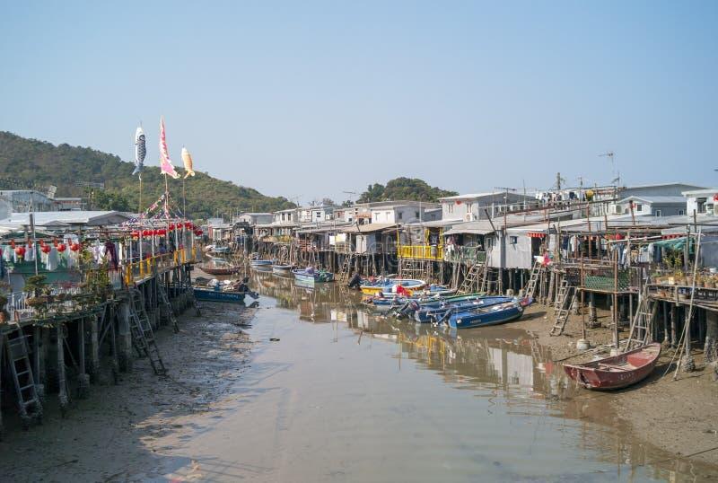 Fisherman village in Hong Kong royalty free stock photo