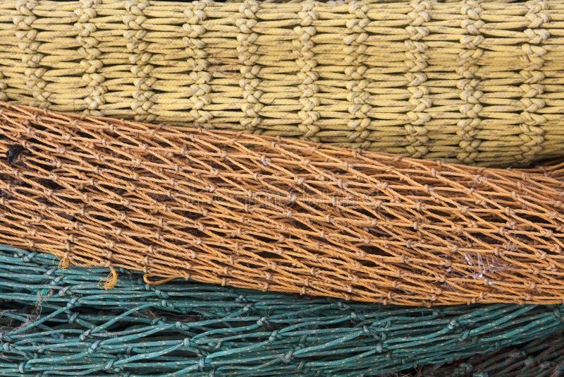 Fisherman web close up, colorful stock photo