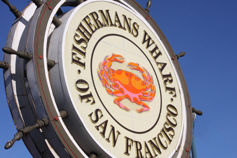 Fisherman Wharf Sign royalty free stock photography