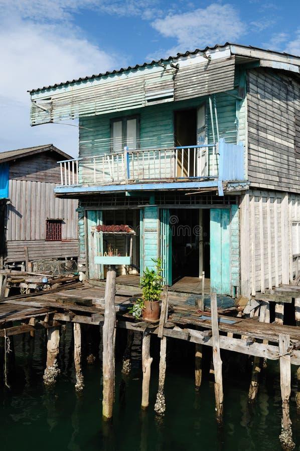 Fisherman wood house royalty free stock image