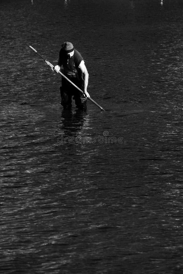 Fisherman at work stock photo