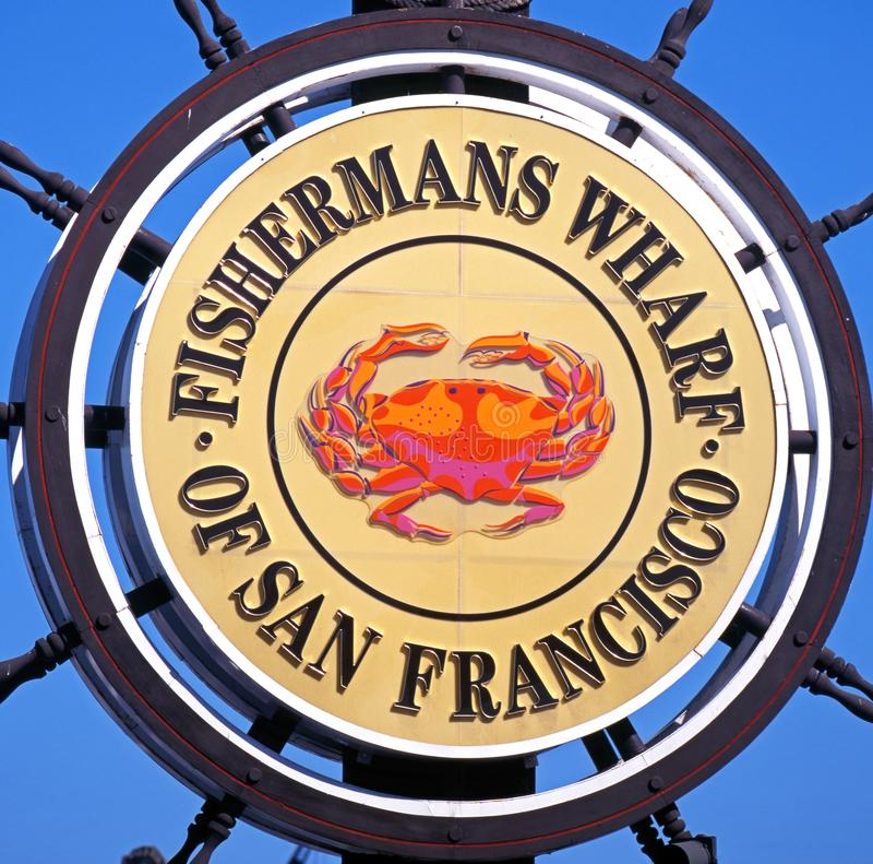 Fishermans码头标志,旧金山。 免版税图库摄影