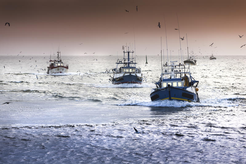 Fishermans fotografia de stock